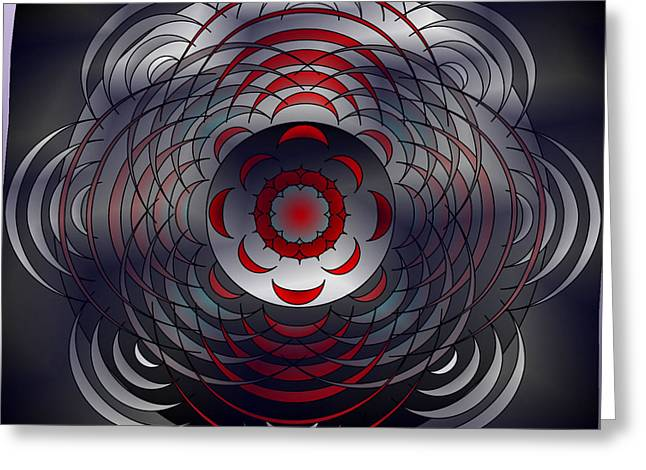 Greeting Card featuring the digital art Mandala Water Reflections by Mario Carini