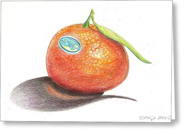 Mandarin Orange Greeting Card by Sean Paradise