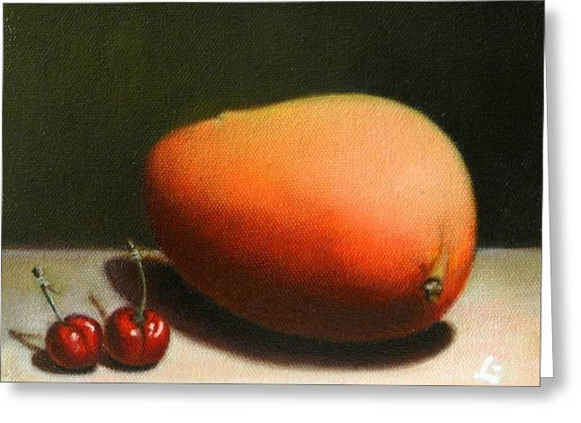 Mango And Cherries, Peru Impression Greeting Card