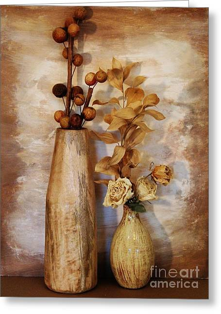 Mangowood Vase Greeting Card by Marsha Heiken