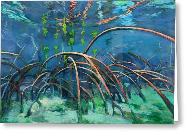 Mangrove Roots  Greeting Card by Scout Cuomo