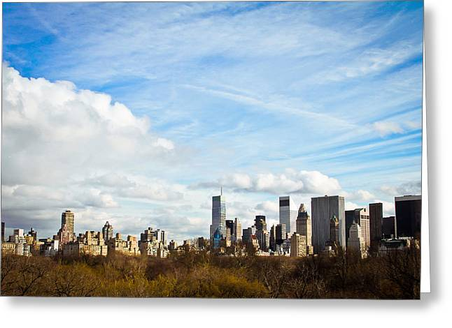 Manhattan Behing The Central Park Greeting Card by Ezequiel Rodriguez Baudo