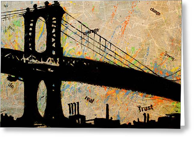 Manhattan Bound  Greeting Card by Anthony Jensen