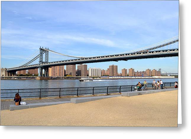 Manhattan Bridge1 Greeting Card