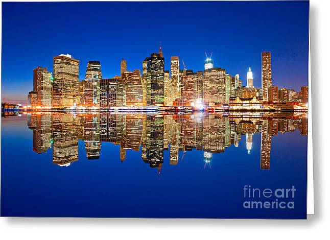 Greeting Card featuring the photograph Manhattan by Luciano Mortula