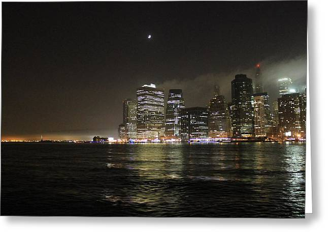 Manhattan Greeting Card by Nina Mirhabibi