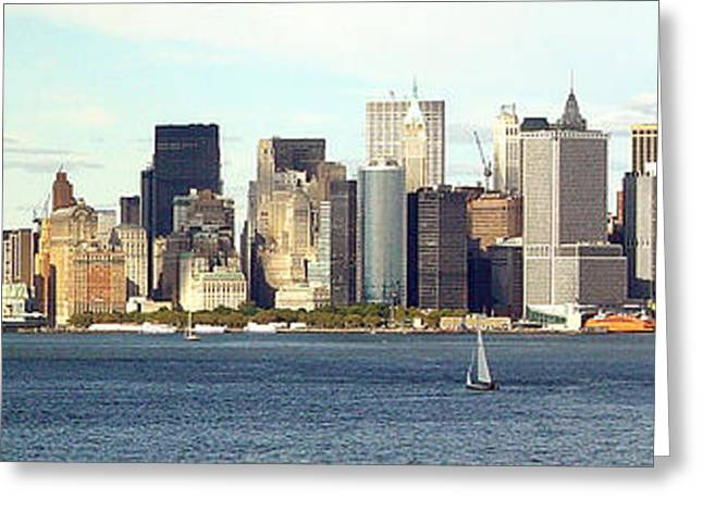 Manhattan Skyline Panarama Greeting Card