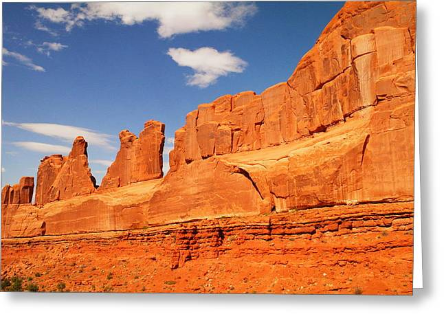 Manhatten In Utah Greeting Card by Jeff Swan