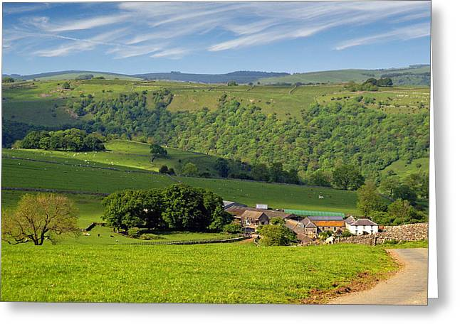 Greeting Card featuring the photograph Manifold Valley - Staffordshire by Rod Jones