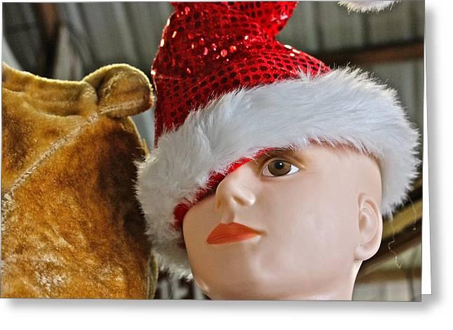 Manniquin Santa 2 Greeting Card by Bill Owen