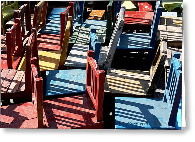 Many Seats For Learning Greeting Card by EricaMaxine  Price