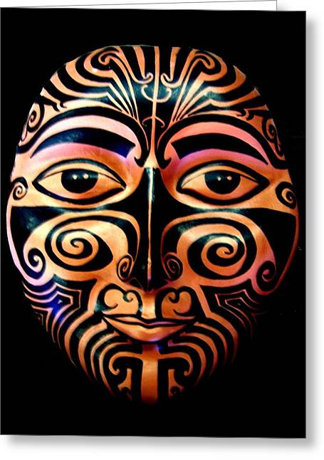 Maori Mask Greeting Card
