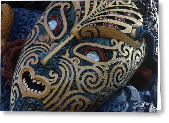 Maori Mask New Zealand 3 Greeting Card