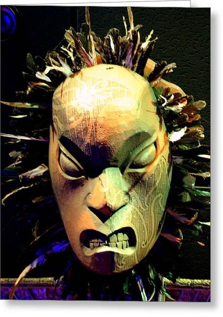 Maori Mask Two Greeting Card