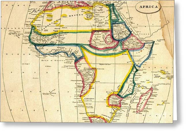Map Of Africa 1812 Greeting Card