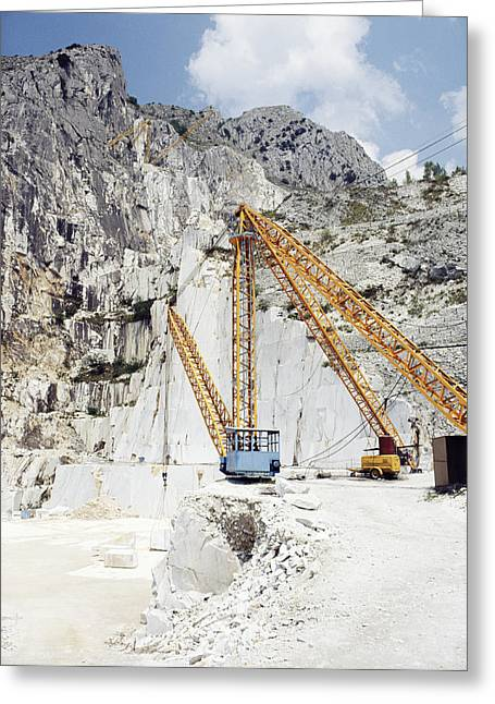 Marble Quarry Greeting Card by Dirk Wiersma