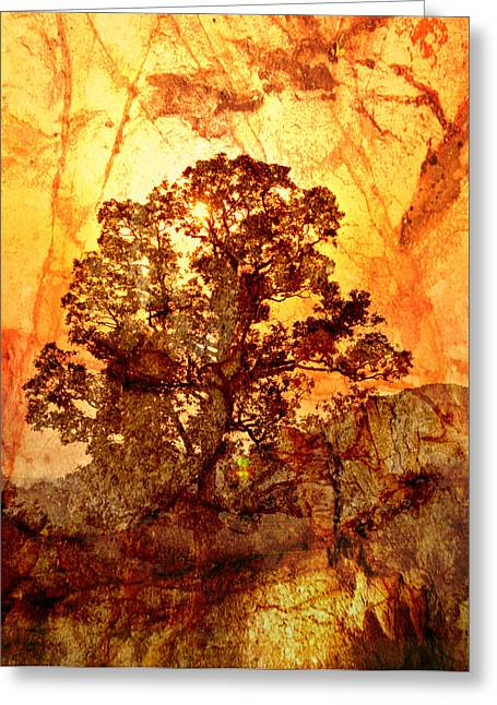 Marbled Tree Greeting Card by Marty Koch
