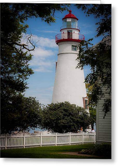 Marblehead Lighthouse Afternoon Greeting Card by John Traveler