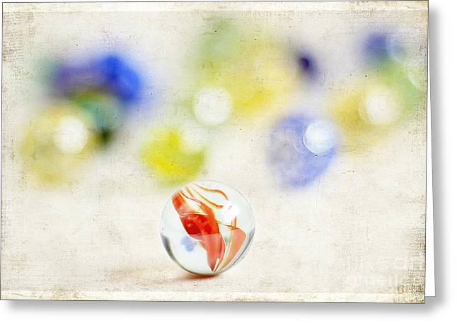 Marbles Greeting Card by Darren Fisher