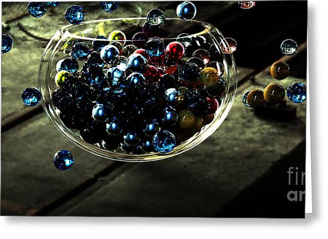 Marbles In A Bowl Greeting Card