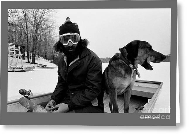 Marc Ice Boat Greeting Card