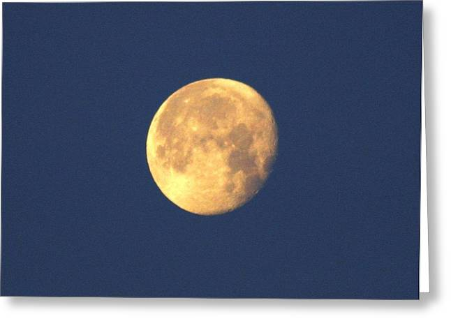 Greeting Card featuring the photograph March Moon by Jeanne Andrews