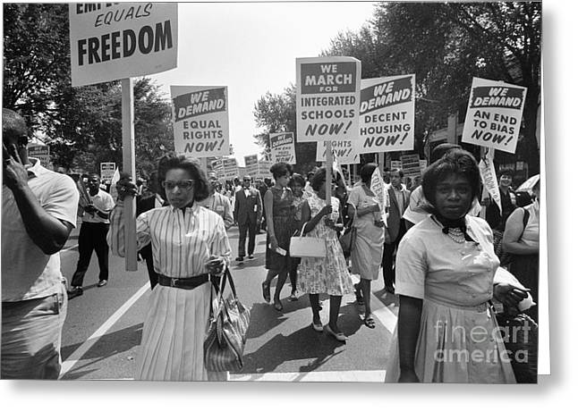 March On Washington, 1963 Greeting Card by Granger