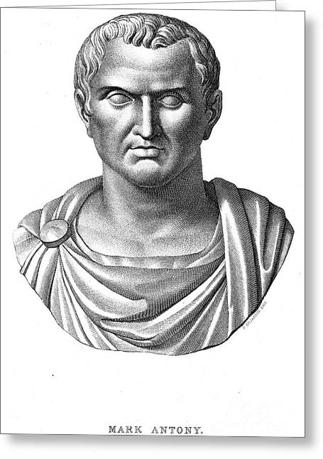 Marcus Antonius (83?-30 B.c.) Greeting Card by Granger