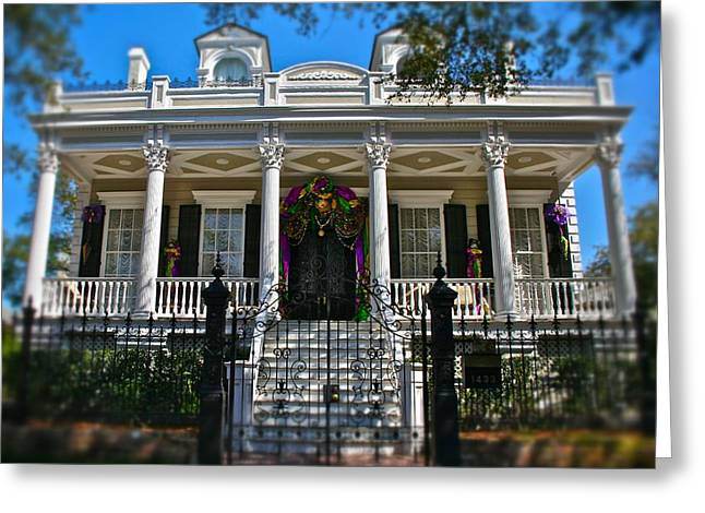 Greeting Card featuring the photograph Mardi Gras House by Jim Albritton