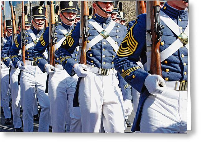 Mardi Gras Marching Soldiers Greeting Card by Kathleen K Parker