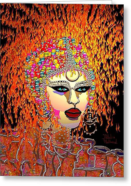 Mardi Gras Greeting Card by Natalie Holland