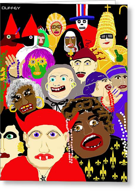 Mardi Gras New Orleans Greeting Card
