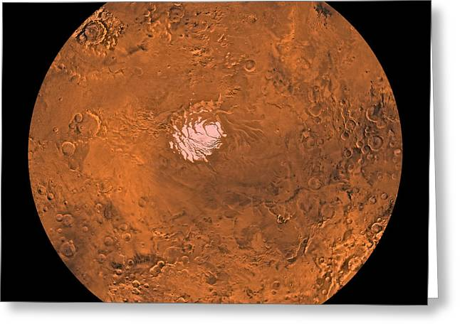 Mare Australe Region Of Mars Greeting Card