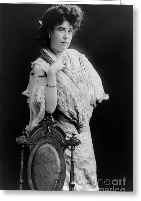 Margaret Molly Brown (1867-1932). The Unsinkable Molly Brown. American Socialite, Philanthropist, Activist, And Survivor Of The Titanic. Photographed C1900 Greeting Card
