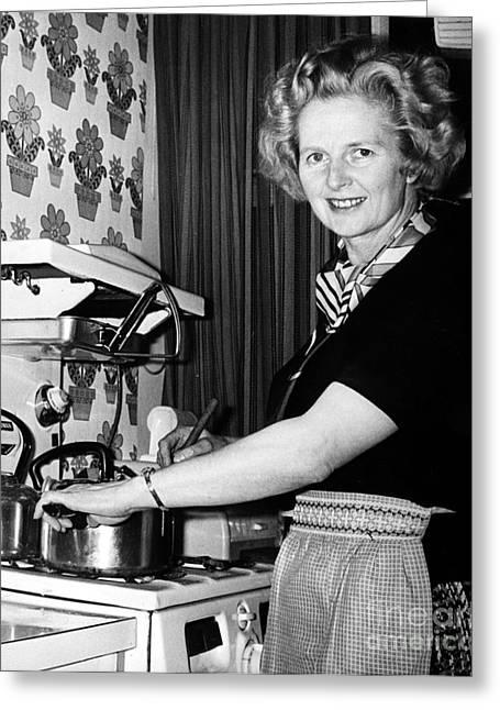 Margaret Thatcher (1925- ) Greeting Card by Granger