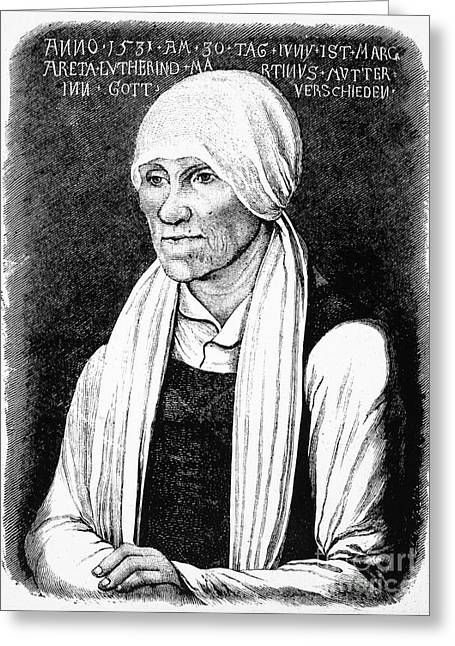 Margarethe Luther Greeting Card by Granger