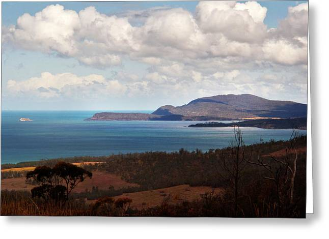 Greeting Card featuring the photograph Maria Island Across Mercury Passage by Odille Esmonde-Morgan
