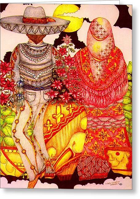 Mariachi Wedding Greeting Card by Dede Shamel Davalos