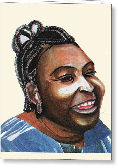 Mariama Ba Greeting Card by Emmanuel Baliyanga