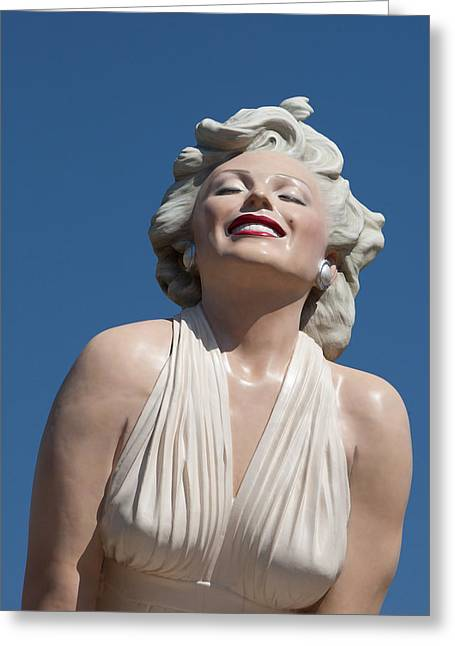 Marilyn In The Sun Greeting Card
