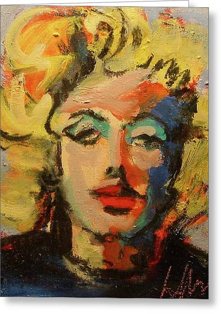 Marilyn Greeting Card by Les Leffingwell