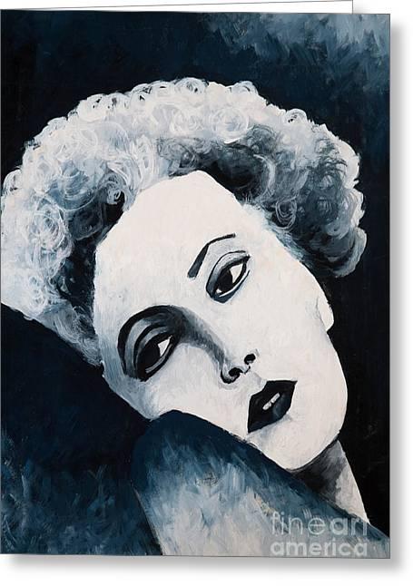 Marilyn Monroe Greeting Card by Natalie Kinnear