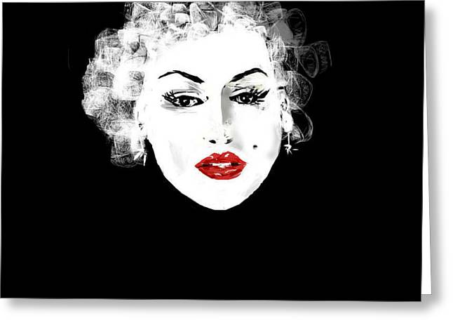 Greeting Card featuring the digital art Marilyn Monroe by Rc Rcd