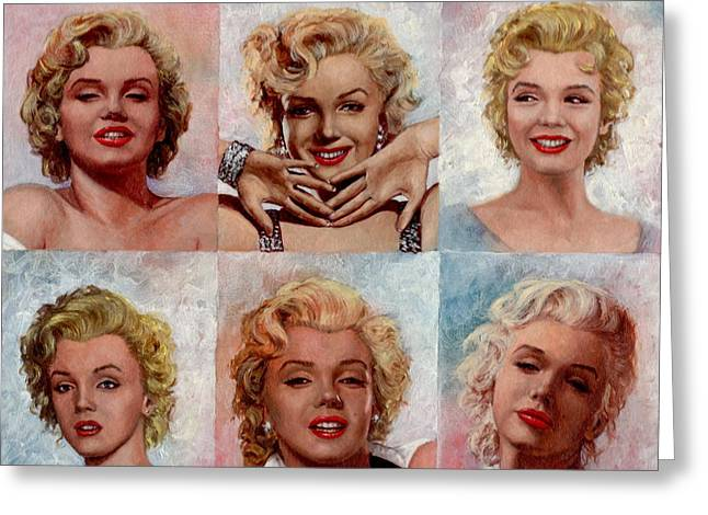 Marilyn Monroe Greeting Card by Tim Kelly