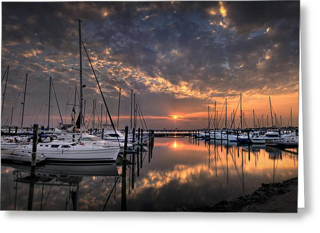 Marina At Fort Monroe Greeting Card