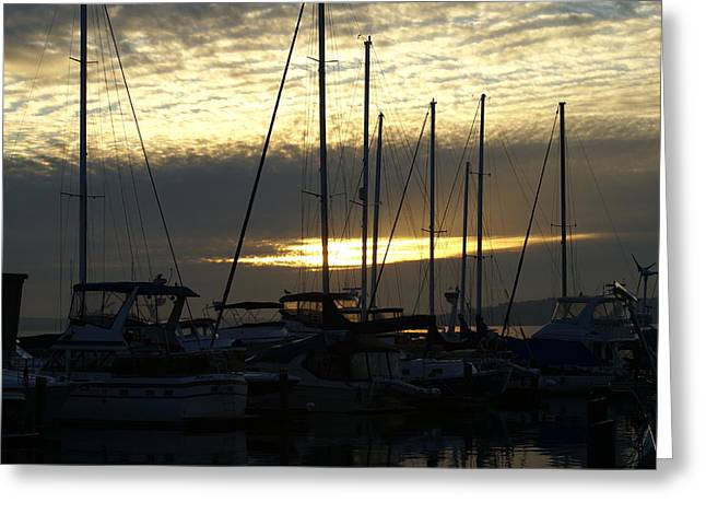 Greeting Card featuring the photograph Marina by Jerry Cahill