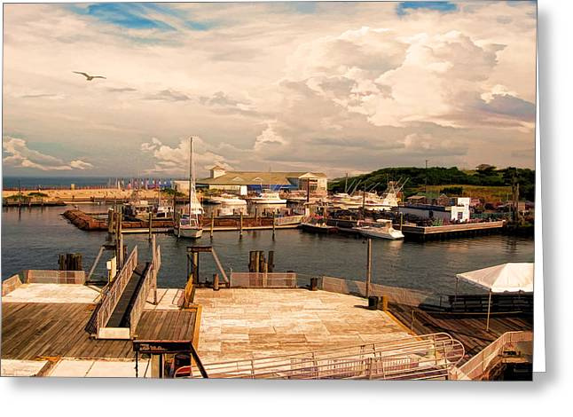 Marina Of Rhode Island Greeting Card by Lourry Legarde