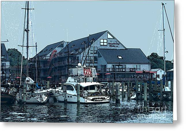 Marina On Chesapeake Bay Greeting Card