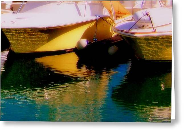 Marina Rainbow Greeting Card by Karen Wiles