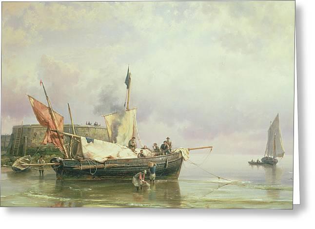 Marine Scene  Greeting Card by Hermanus Koekkoek